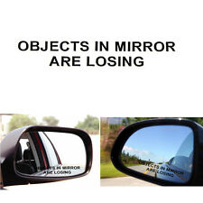 2XCar OBJECTS IN MIRROR ARE LOSING Decal Sticker Vinyl JDM Rearview Racing SUV