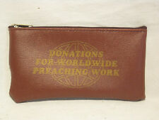 rare Donations For Worldwide Preaching Work pouch bag donation donate zipper bag