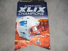 2014 NFL Super Bowl XLIX 49 Champions New England Patriots Premium Banner 17x26