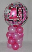40TH BIRTHDAY - AGE 40 -  FEMALE  - FOIL BALLOON DISPLAY -TABLE CENTREPIECE