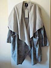NEW***RACHEL ZOE Sz 2X reversible COAT greys!!