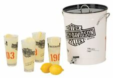 Harley-Davidson 1903 Bar & Shield Enamel Steel Beverage Dispenser Set HDL-18764