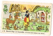 CPA BLANCHE NEIGE ET LES 7 NAINS N° 4