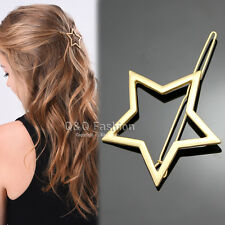 Blogger Gold Shooting Star Cut Out Hair Pin Clip Dress Snap Barrette Hen Party C