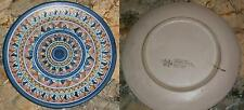 Antico piatto decorativo ceramica VIETRI anni '60 x appendere piattaia cucina