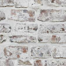 Brick Wall Flaking Paint - Arthouse VIP Whitewashed Wall White Wallpaper 671100