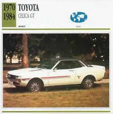 1970-1984 TOYOTA CELICA GT Sports Classic Car Photo/Info Maxi Card