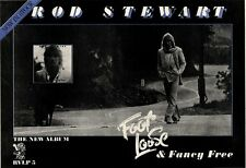 5/11/77PN18 ADVERT: ROD STEWART ALBUM FOOT LOOSE & FANCY FREE 11X15