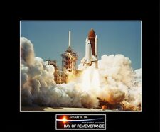 """1986 NASA Space Shuttle CHALLENGER Lift-Off 8""""x10"""" Photo-11"""" x 14"""" Black Matted"""