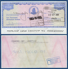 SIMBABWE / ZIMBABWE  10.000 Dollars  aUNC  P. 17