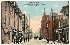 11th Street Looking South from Post Office in Altoona PA Postcard