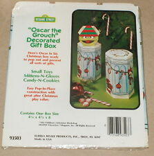 """1982 Muppets / Sesame Street """"Oscar the Grouch"""" Christmas Garbage Can Gift Box"""
