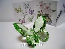 SWAROVSKI CRYSTAL BUTTERFLY LIGHT PERIDOT 855773 RETIRED BNIB COA
