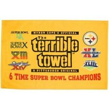 PITTSBURGH STEELERS TERRIBLE TOWEL 6 TIME SUPER BOWL CHAMPS LIMITED EDITION