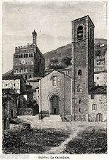 Gubbio: La Cattedrale. Perugia. Umbria. Stampa Antica + Passepartout. 1901
