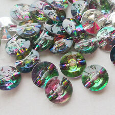 Fashion 100x  Plastic Acryl Buttons/Craft/beads/Sewing 12mm