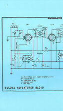 Nice *COPY* Bulova Adventurer AM Transistor Radio Schematic Diagram