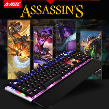 UK Ajazz Assassin AK35 Black Blue Switch 107 Keys Mechanical Usb Gaming Keyboard