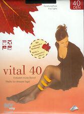 2 Vital-Strumpfhosen - entlastet müde Beine -  40den, schwarz, 38-40  *MY way*