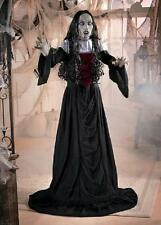 """Standing Gothic Woman Vampire Prop w/ Red Lighted Eyes Halloween Decoration 60""""H"""
