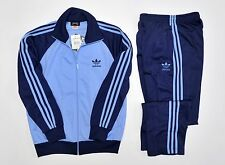 Adidas full tracksuit track suit vintage retro old school pants jacket 80 D6