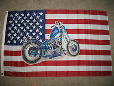 USA Harley Davidson Bike Motorcycle Chopper SuperPoly 3x5 Flag Banner