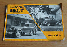 ancienne publicité les 300 kilo Renault moteur 4 ch
