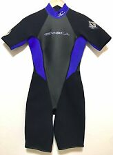 O'Neill Womens Spring Shorty Wetsuit Reactor 2/1 Ladies Size 8
