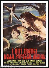 I RITI EROTICI DELLA PAPESSA JESIAL MANIFESTO CINEMA HORROR 1975 MOVIE POSTER 2F