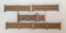 Fence Panels, Gate & 5 Bar Gate For Model Train OO Gauge Accessory Free Standing