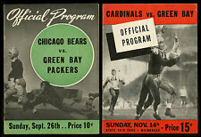 1941 TO 1972 NFL GREEN BAY PACKERS PROGRAMS YEARBOOKS SCHEDULES MEMORABILIA (18)
