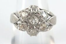 14CT WHITE GOLD & OLD EUROPEAN CUT DIAMOND RING WITH VALUATION OF $2980.