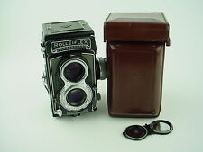 Rolleiflex 3.5 T Gray TLR Camera w/Carl Zeiss Tessar 3.5 Lens And Leather Case