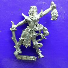 1x Witch elf Dark elves female metal citadel GW games workshop command champion
