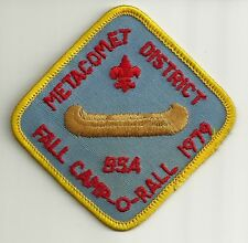 BSA METACOMET District 1979 Fall Camp-O-Rall Patch V4