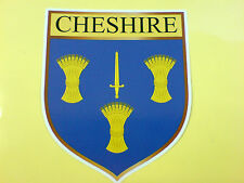 CHESHIRE County Shield Camper Van Car Bumper Sticker Decal 1 off 90mm