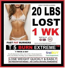 T5 BURN EXTREME WEIGHT LOSS PILLS FAT BURNERS STRONG DIET SLIMMING TABLETS Bid85