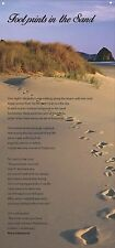 """Footprints In The Sand"" -Huge Beautiful Wall Quotes Canvas Banner 14""x30"""