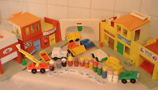 vtg Fisher-Price VILLAGE #997 Loaded  6 mail, wood figs + BONUS snowdozer + more