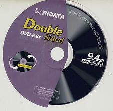 50 Ritek- Ridata 9.4GB - Double-Sided - 8X - DVD-R's (record on both sides)