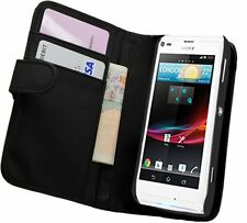 Black Wallet Leather Case cover for Sony Xperia L experia C2104 / C2105 +2 FILMS