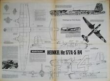 Heinkel He 177A-5 R4 1.72 Scale Drawings WARPAINT Aviation News May June 1976