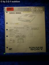 Sony Service Manual ST 909R Tuner (#3367)