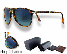 Persol Steve McQueen Folding Sunglasses HAVANA_POLARISED BLUE PO9714S 1052/S3