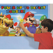 Super Mario Brothers Birthday Party Game Pin the Sticker Star Poster 2-8 Players