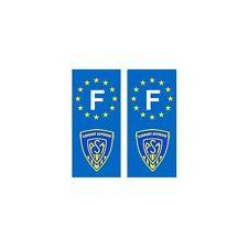 F ASM Clermont Rugby autocollant plaque droits