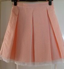 New Size UK6 Petite EUR 34 Apricot/White Pleated Skirt Marks & Spencer RRP £ 35