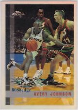 1997-98 TOPPS CHROME REFRACTOR:AVERY JOHNSON #141 SAN ANTONIO SPURS CHAMPIONSHIP