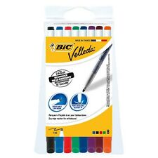 8 x BIC VELLEDA WHITEBOARD PENS DRY WIPE ASSORTED COLOURS 1721 MARKER