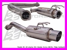 Tsudo Civic 2006 2007 2008 2008 2009 2010 k20a Coupe Si 70mm S2 Cat back Exhaust
